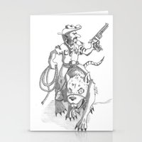 western Stationery Cards featuring western rat by kasowy