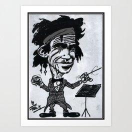 """Keef"" Richards Art Print"