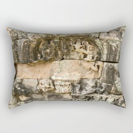 Mismatched Repairs, Bayon Temple, Angkor Thom, Cambodia Rectangular Pillow