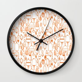 Buoyant Designs in Orange Wall Clock