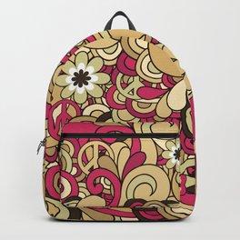 Vintage Hippie Swirl Pattern Backpack