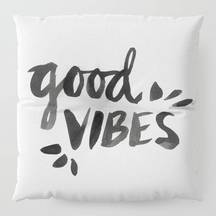 Good Vibes – Black Ink Floor Pillow