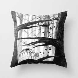 Birdcages Throw Pillow