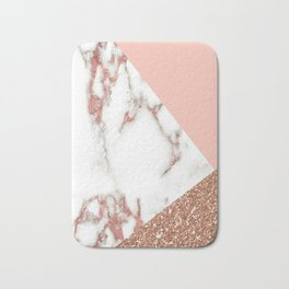 Marble - pink and gold Bath Mat