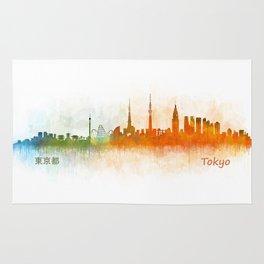 Tokyo City Skyline Hq V3 Rug