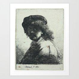 Rembrandt - Self-Portrait (1633) Art Print