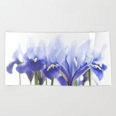 Bue Iris 2 Beach Towel