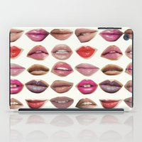 lips iPad Cases featuring Lips by Emily Kenney