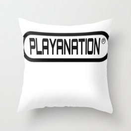 PlayaNation BW 2-Tone Throw Pillow