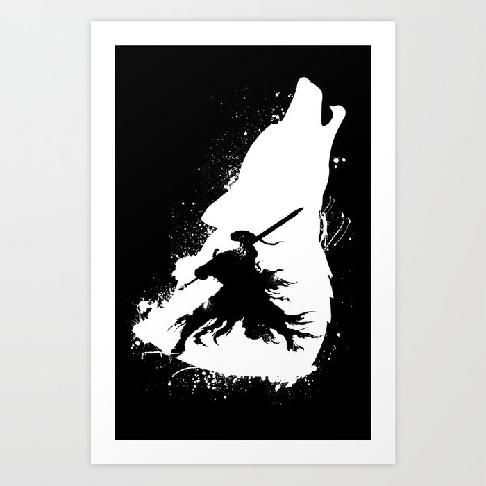 Artorias and Sif Dark Soul Kunstdrucke