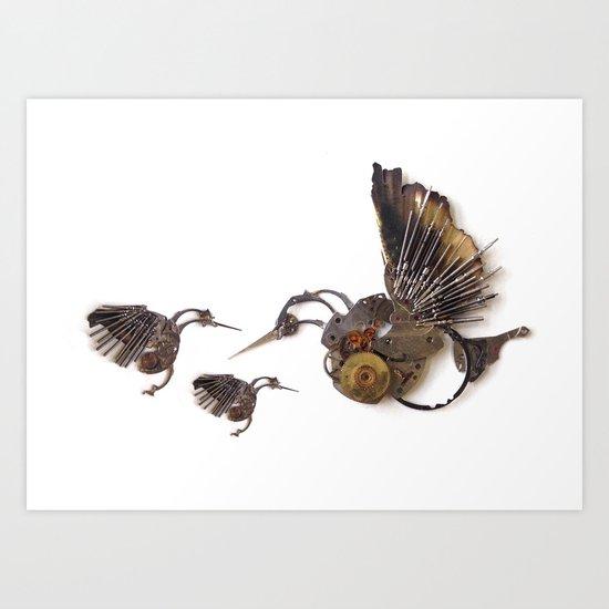 Rad's Hummingbirds Art Print