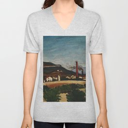 Paul Cezanne - Factories near Mont de Cengle Unisex V-Neck