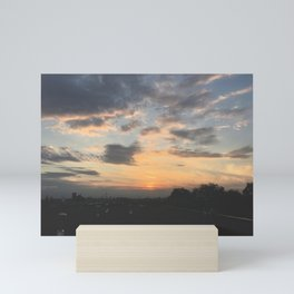 Sunset from the rooftops Mini Art Print