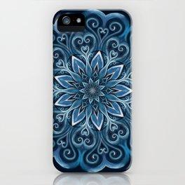 Blue Water Mandala Swirl iPhone Case