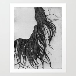 Hair in Profile Art Print