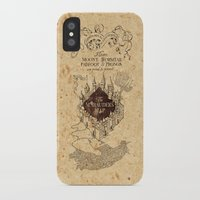 marauders iPhone & iPod Cases featuring MARAUDERS MAP by Graphic Craft
