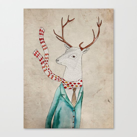 Dear deer. Canvas Print