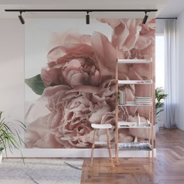 Blush Pink Floral Wall Mural