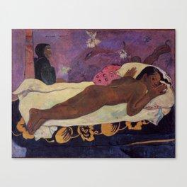 The Spirit of the Dead Keeps Watch - Paul Gauguin Canvas Print