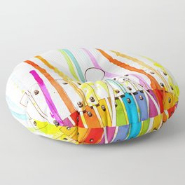 Glockenspiel. Play your own melody on the rainbow Floor Pillow