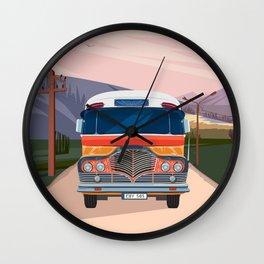 Retro Bus Wall Clock