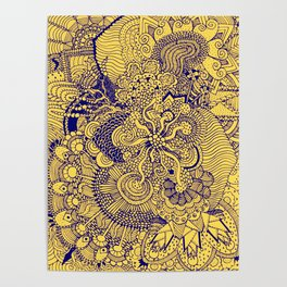 Tangled Mellow Yellow Poster