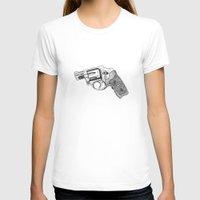 gun T-shirts featuring Gun by ToppArt