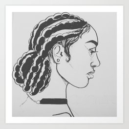 Corn Rows Art Print