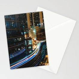 Subway Light Trails I Stationery Cards