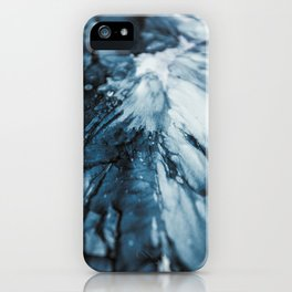 Blue Ocean | Sea Abstract | Nature Art | Painting by Magda Opoka iPhone Case