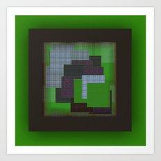 Green Color Geometry Art Print