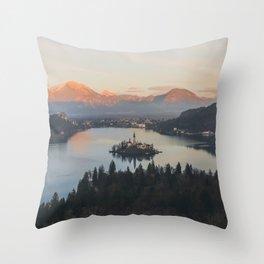 Lake Bled, Slovenia II Throw Pillow