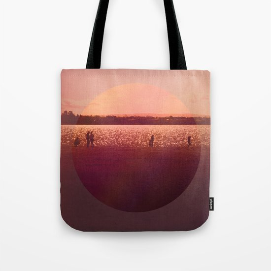 Vintage Coral Sunset, Winter Beach Tote Bag