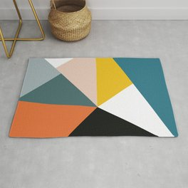 Triangles abstract colorful art Rug