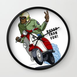 RUDER THAN YOU Wall Clock