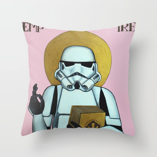 """EMPIRE"" - Star Wars, Stormtrooper Throw Pillow"