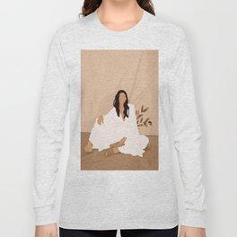 Sitting on the Floor Long Sleeve T-shirt