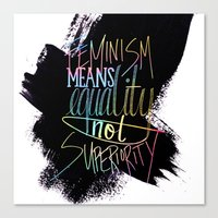 feminism Canvas Prints featuring Feminism  by Christina