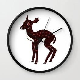 a Deer a Doe Wall Clock