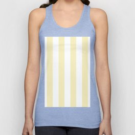Vertical Stripes - White and Blond Yellow Unisex Tank Top