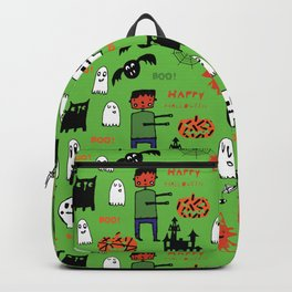 Cute Frankenstein and friends green #halloween Backpack