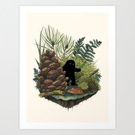 Tiny Sasquatch Art Print