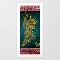 Peacock or Dragon Art Print