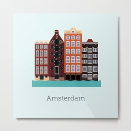 Vector City - Amsterdam Metal Print