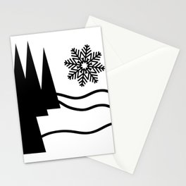 Christmas Trees and Snow Stationery Cards