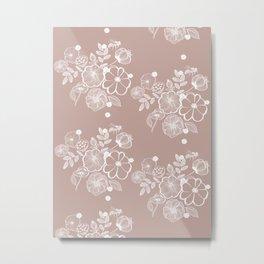 Floral print Metal Print