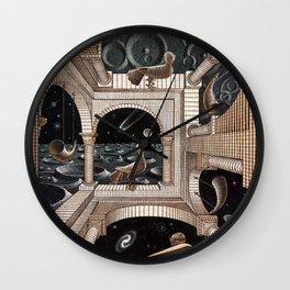 Escher - Another World II Wall Clock