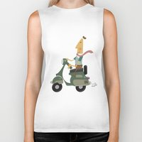 vespa Biker Tanks featuring Vespa by Aguinaldo Goncalves