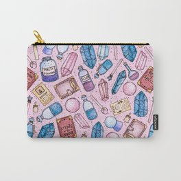 Witchy Stuff Pink Carry-All Pouch