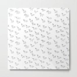 Unicorn pattern Metal Print